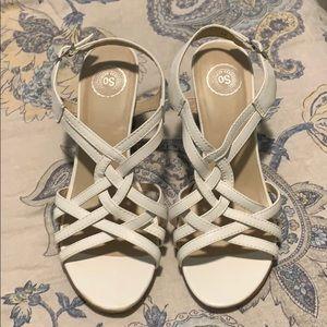 ❤️Sweet SO white sandals